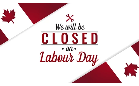 Closed For Labour Day!
